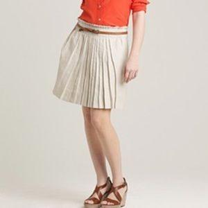 J. Crew Linen Garden Skirt in Khaki